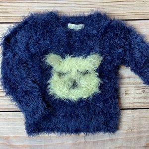 Tucker + Tate fuzzy bear sweater size 2